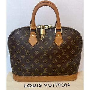 CERTIFIED AUTH. LOUIS VUITTON MONOGRAM ALMA BAG
